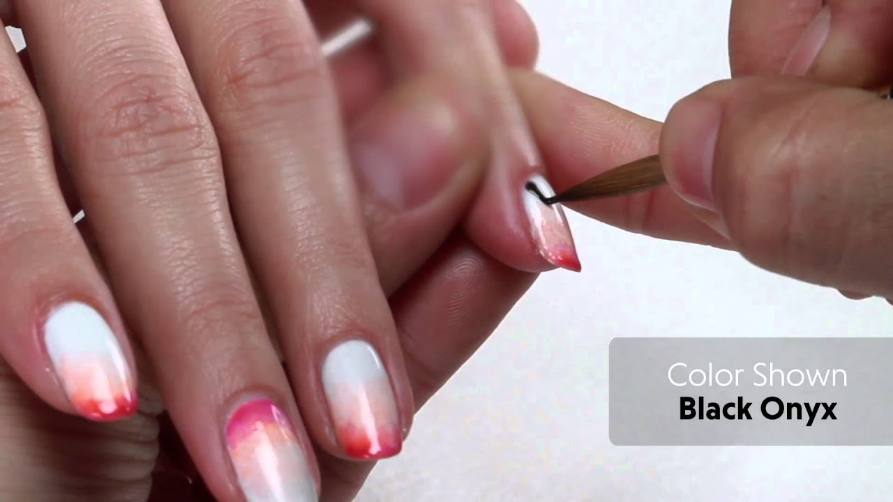 OPI GelColor Professional Nail Art Neon Pattern - YouTube