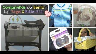Comprinhas do Bento Luis Loja Target e Babies R Us
