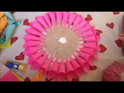 DIY paper dahlia tutorial | room decor with beautiful paper flower | easy decor idea