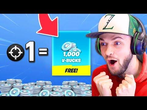 1 Elim = 1,000 *FREE* VBucks In Fortnite!