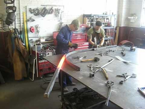 """Forging 1 3/4"""" steel tube"""