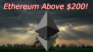 Ethereum LIVE : ETH is Over $200! Bitcoin @ $8,000.  Episode 508 - Crypto Technical Analysis