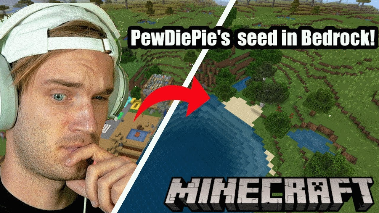Pewdiepie S World Seed For Minecraft Bedrock Mcpe Youtube