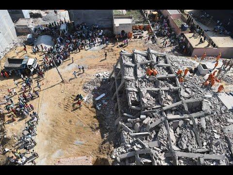 وفاة شخصين في انهيار مبنى من 6 طوابق قرب نيودلهي  - نشر قبل 2 ساعة