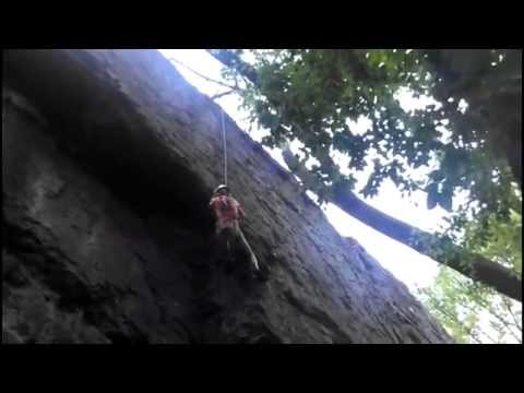 Juliette Climbing at Mills Reservation