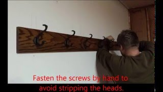 DIY Homemade Coat Rack