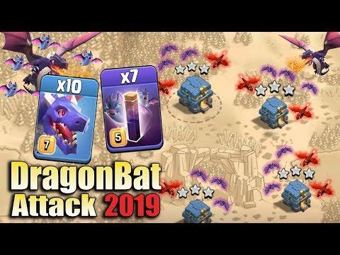 DragonBat Attack 2019! TH12 Best Dragon Skill 3star CWL Attack | Clash of Clans