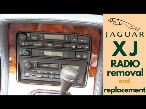JAGUAR XJ 1994-1997 radio removal and replacement by aftermarket unit. DIY step by step.