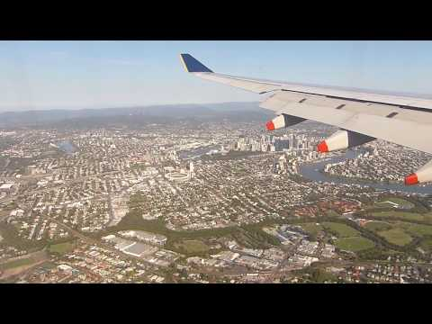 Singapore Airlines Landing at Brisbane Airport Australia