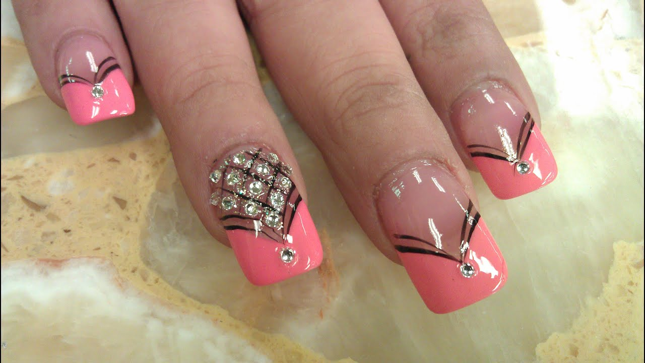 Elegant Diamond Nails Design