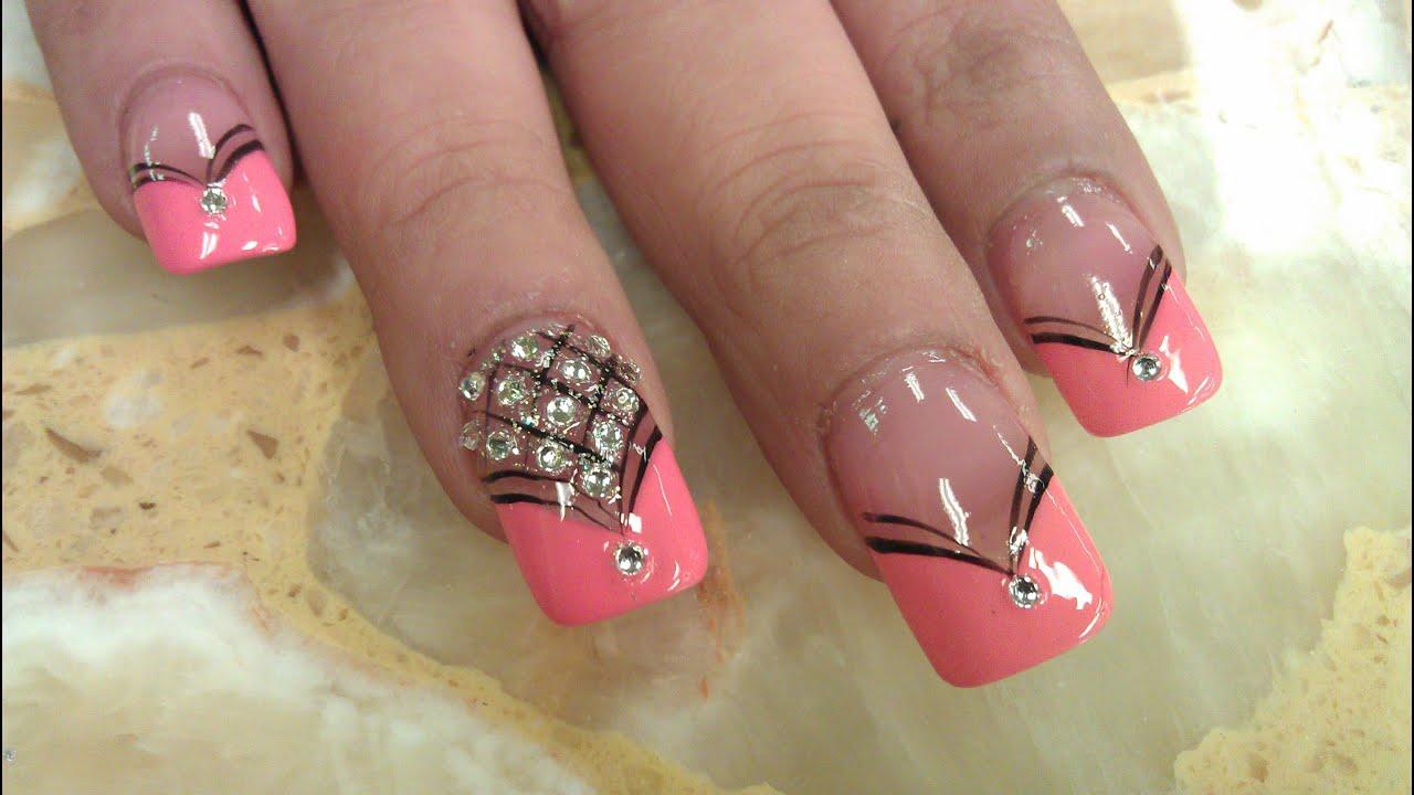 elegant diamond nails design
