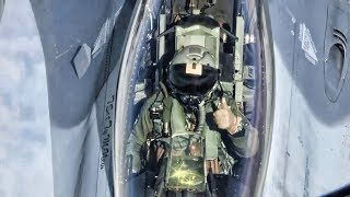 F-16 Pilot Communications During Aerial Refueling