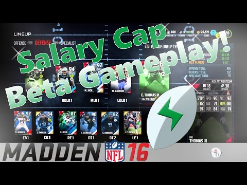 "Madden 16: Madden Salary Cap - Game 2 ""Thoughts On This Gamemode?"" Tournament Gameplay!"