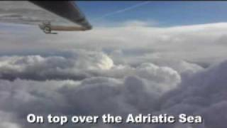 Severe Icing conditions and thunderstorms encounter during a summer flight