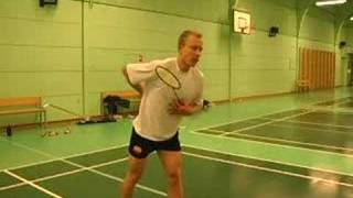 Badminton jump smash