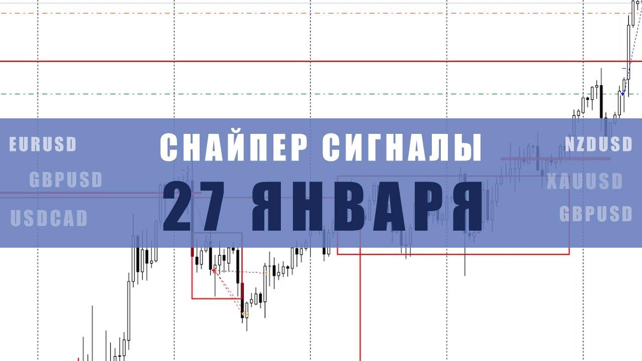 СИГНАЛЫ СНАЙПЕР НА 27 ЯНВАРЯ  | Трейдер Максим Михайлов