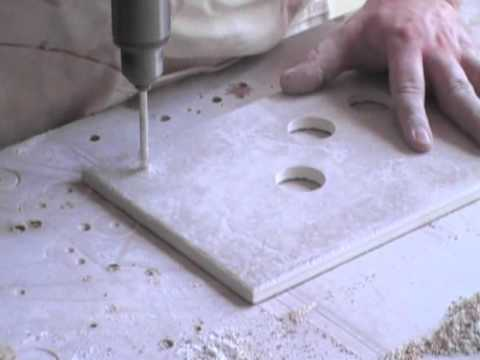 how to drill holes in ceramic tile without breaking them youtube. Black Bedroom Furniture Sets. Home Design Ideas