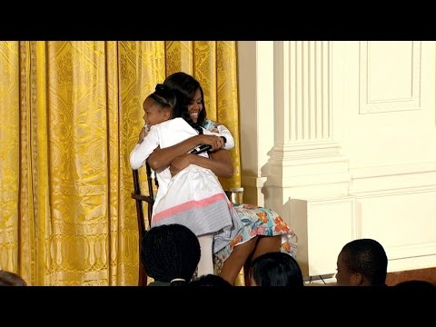Little Girl Asks First Lady, 'How Old Are You?'