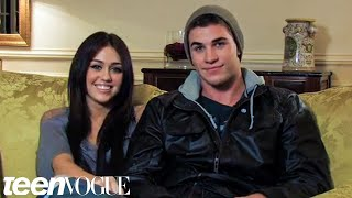 Miley Cyrus and Liam Hemsworth On The Set Of Their Paris Cover Shoot | Teen Vogue