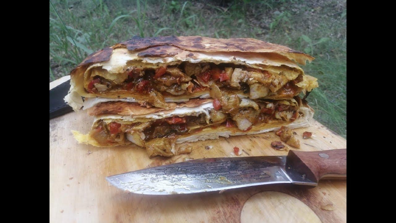 Шедевр кулинарии - Мясной пирог на углях! Смотреть всем!