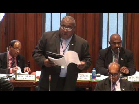 Fijian Minister for Employment Hon. Semi Koroilavesau's response on Christmas Island Veterans