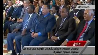 شاهد..مراسم توقيع عدة اتفاقيات بين الجانبين المصرى والسوداني بالقاهرة