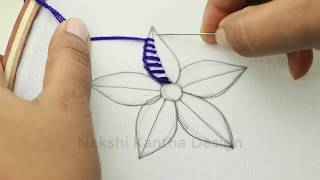 Hand Embroidery, Modern Flower Embroidery Design, easy Flower Embroidery