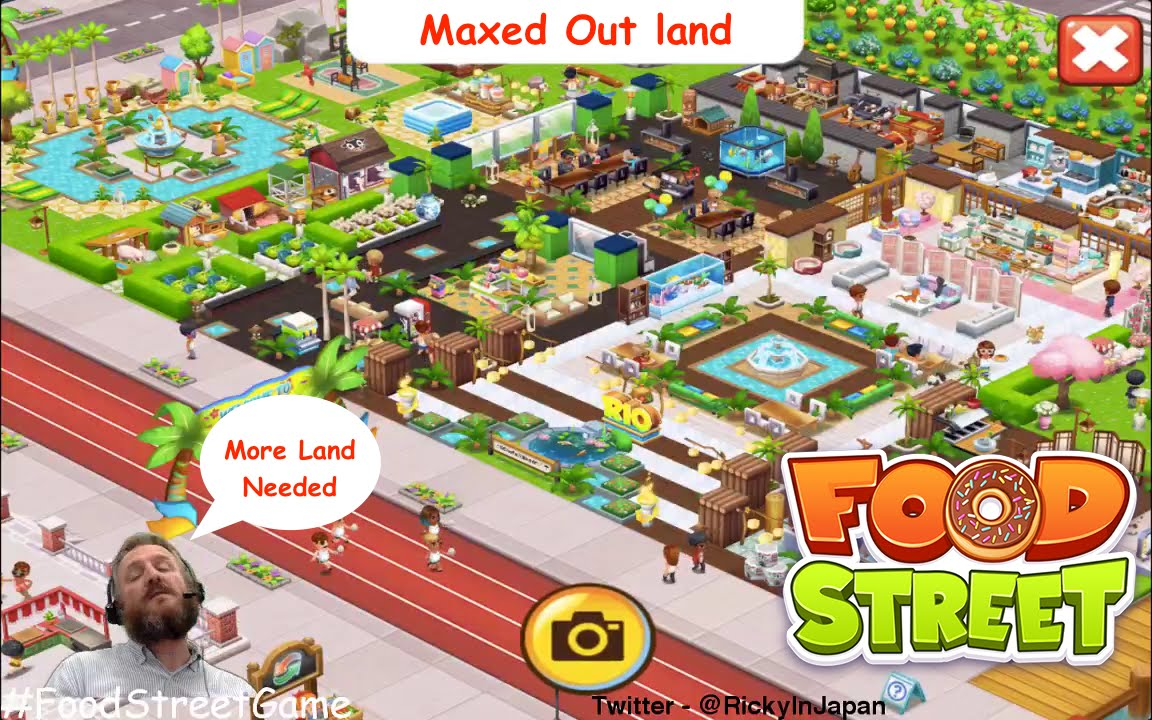 Food street a maxed out land user and cool design youtube