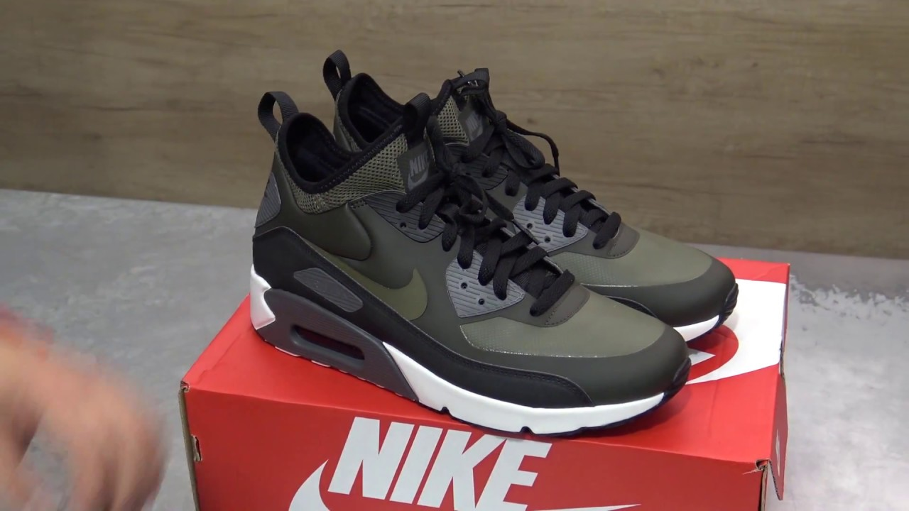 nike air max 90 sneaker boot winter black цена любви