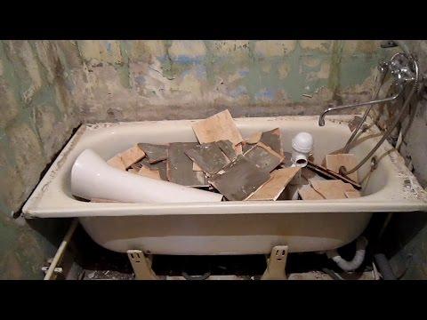 Как НЕ надо делать укладку плитки при ремонте в ванной. Укладка плитки на плитку и окрашенные стены