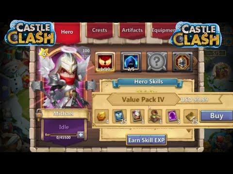 Castle Clash Buying Cari Bazaar $100 Micheal Pack