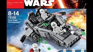 Обзор на лего звёздные войны First Order Snowspeeder 75100