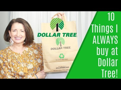 10 Things I Always Buy At Dollar Tree!