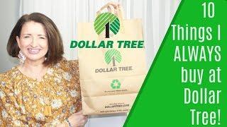 10 Things I Always Buy at Dollar Tree!