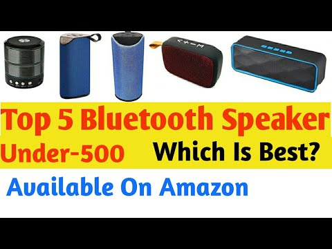 Top 5 Bluetooth Speaker Under 500 Which Is Best Youtube