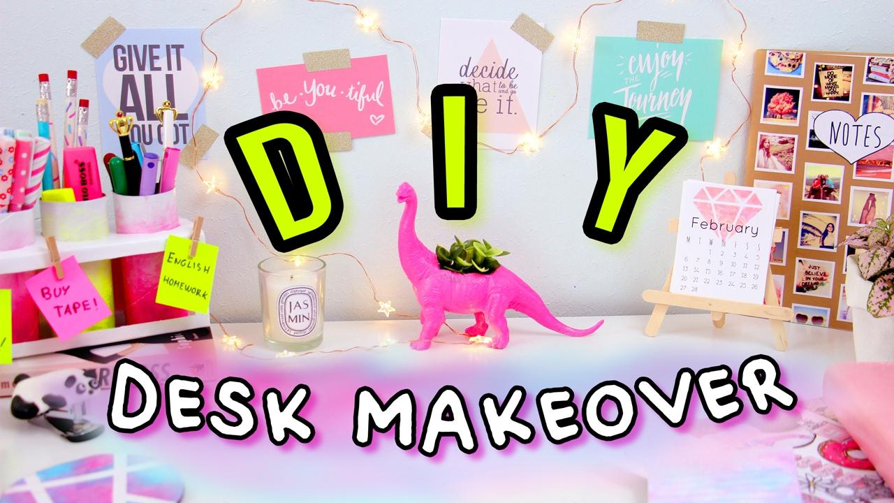Diy desk decor organization desk makeover 2017 make for Diy desk decor ideas