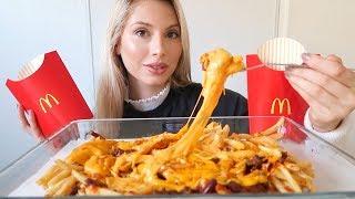 McDonalds Chili Cheese Fries Mukbang!