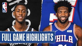 Gambar cover NETS at 76ERS | FULL GAME HIGHLIGHTS | February 20, 2020