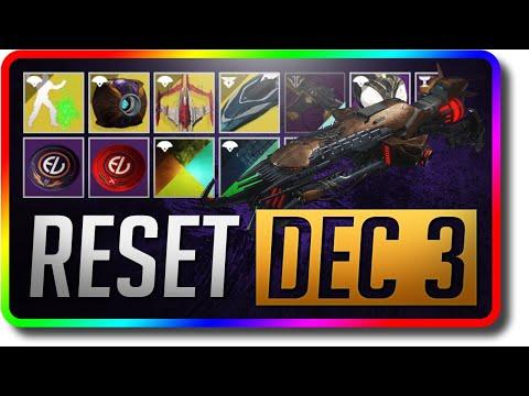 Destiny 2 -  Last Week Of Season 8 Reset (December 3 Season Of The Undying Weekly Reset)