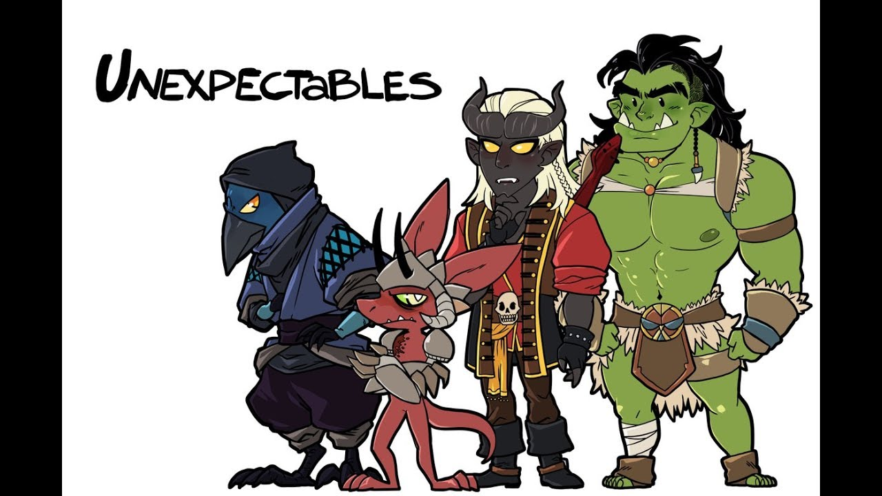 Dnd The Unexpectables 1 Welcome To Alivast Youtube Follow the travels and tribulations of task the kobold ranger, greckles the kenku rogue, panic the tiefling bard, and borky the orc barbarian, as they traverse. dnd the unexpectables 1 welcome to alivast