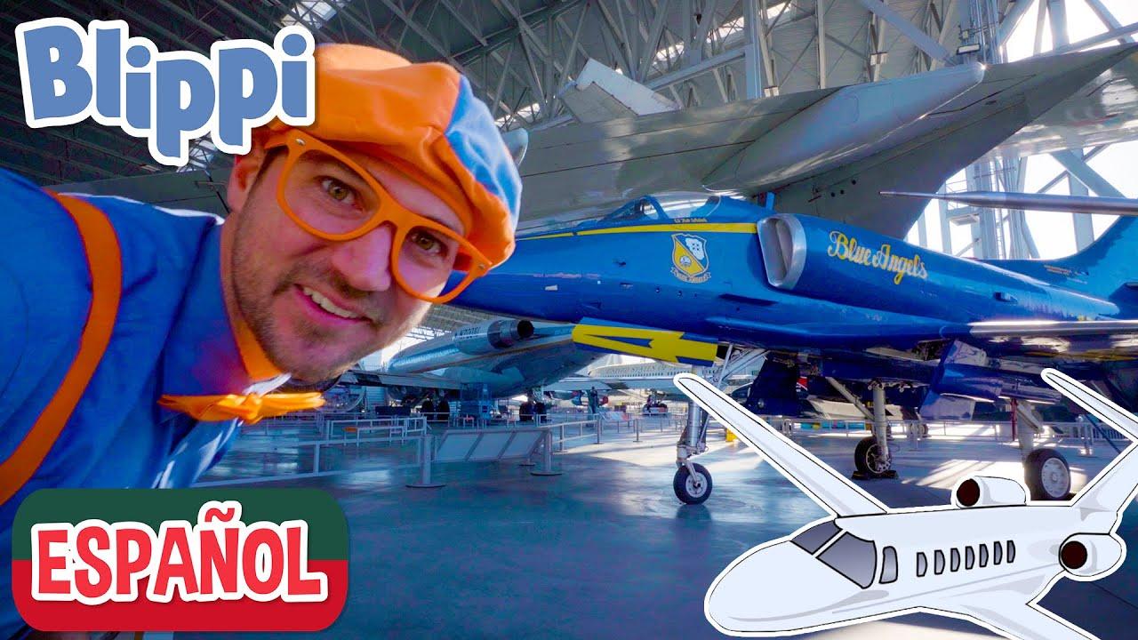 ✈️  Blippi aprende sobre aviones en el Museo del Vuelo✈️  | aprende con blippi | videos educativos