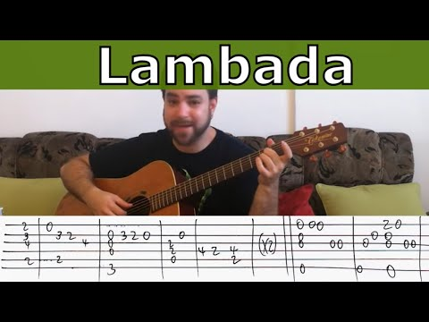Fingerstyle Tutorial: Lambada \ On the Floor - Guitar Lesson w/ TAB