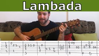 Fingerstyle Tutorial: Lambada \ On the Floor - Guitar Lesson w/ TAB