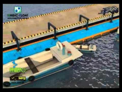 Magic-Float jetty in harbour.flv