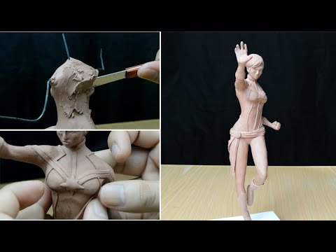 Sculpting Captain Marvel