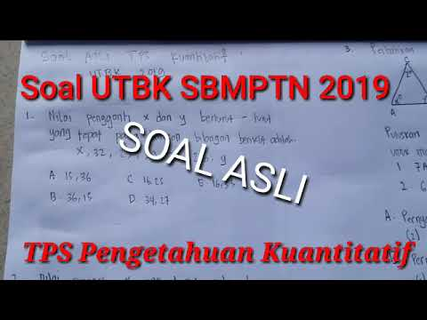 Pembahasan Soal TPS Kuantitatif UTBK SBMPTN 2019