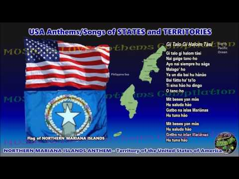 "Northern Mariana Islands Territory Anthem ""Gi Talo Gi Halom Tåsi"" with music, vocal and lyrics"