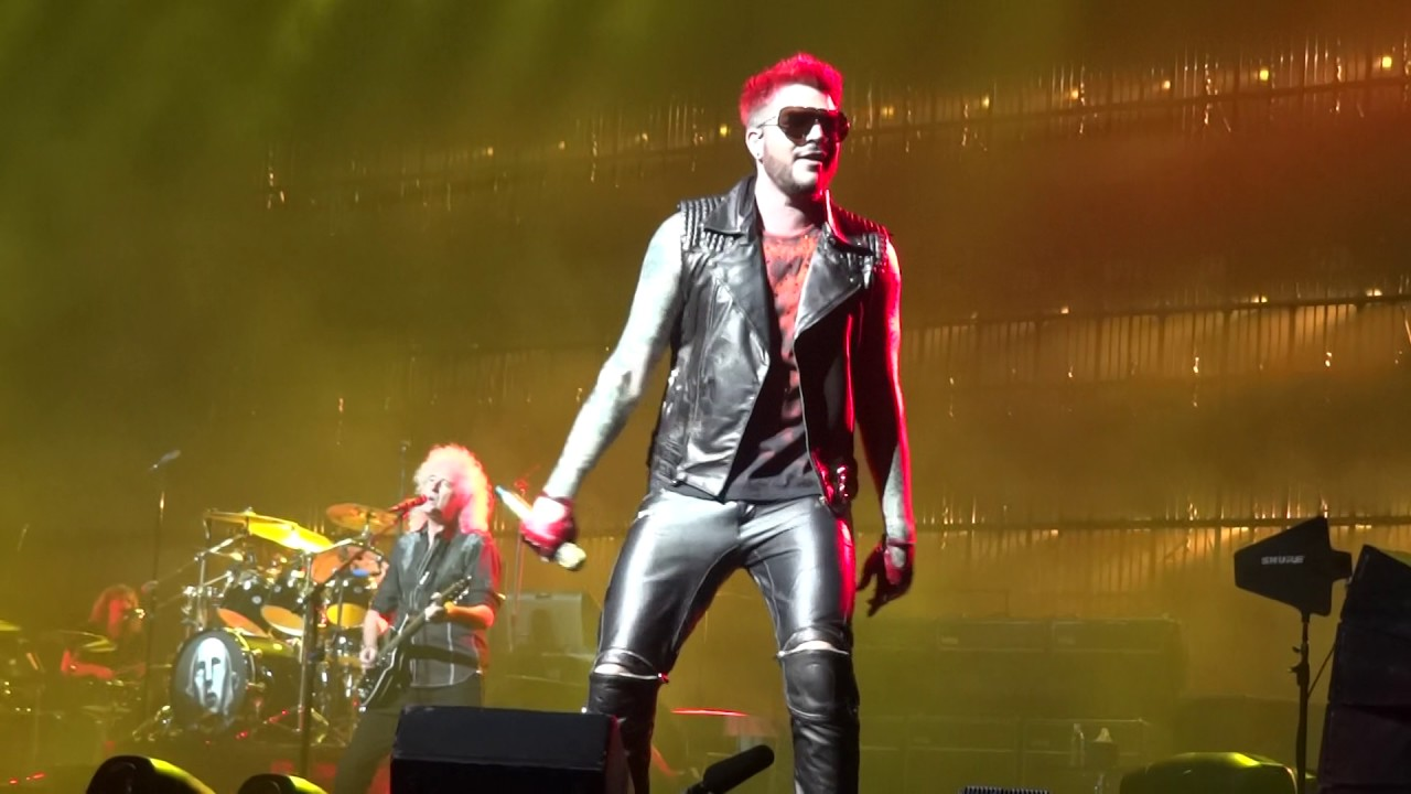 "Queen + Adam Lambert - ""Fat Bottomed Girls"" Auburn Hills Detroit 7-20-17 The Palace  in HD"