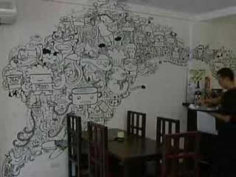 Nassive Doodle art in Manila
