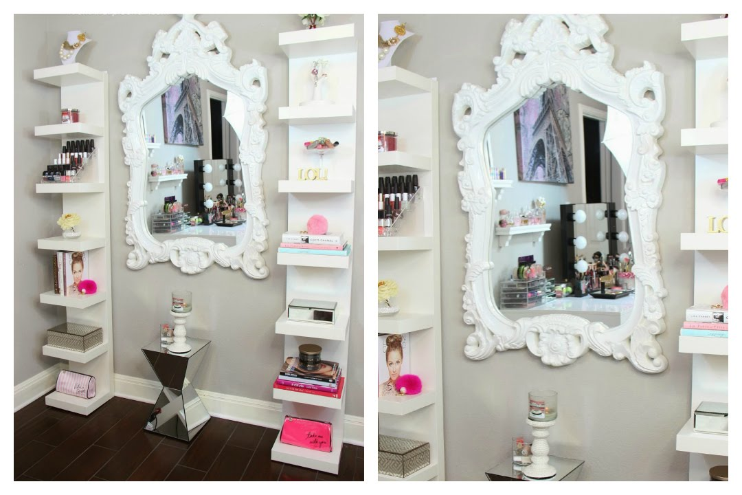 Beauty room decor how i style my ikea lack shelves for Beautiful room decoration